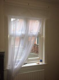 White Sheer Net Curtain/Voile Panel (150x230)