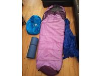 Sleeping bag and other gear used for 2 nights only