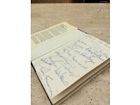 Autographed book by Bobby Moore & other World Cup winners including Martin Peters & Geoff Hurst