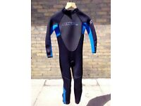 O'Neil, blue, kids size 10, long wetsuit.