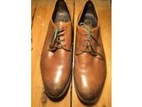 Brown leather men's shoes size 9