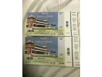 2 tickets for England v Pakistan - 3rd day, Lords - 26th May 2018