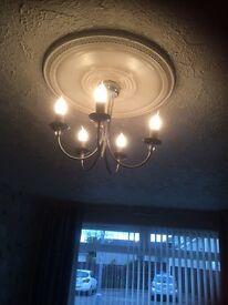 5 way ceiling light chrome