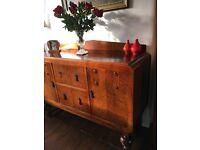 Vintage Art Deco Oak Cabinet / Sideboard