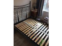 Kind size metal bed frame