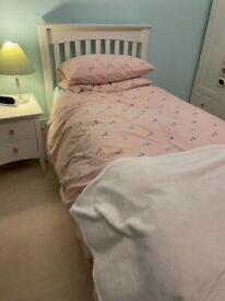 Single Cream Bed with Trundle Bed