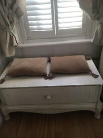 Laura Ashley Lillie chest, Window Seat , Table