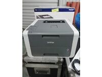 3x WiFi Colour Laser A4 Printers (2x Brother HL-3140cw + 1x OKI MC342w) + New Toner Sets for Each