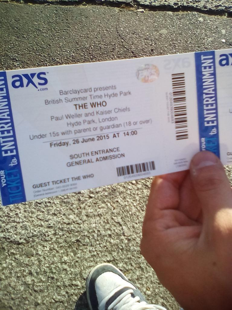 2 TICKETS TO THE WHO CONCERT 26062015 IN HYDE PARK  : 86 from www.gumtree.com size 768 x 1024 jpeg 140kB