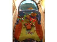 Baby bath support and rocker