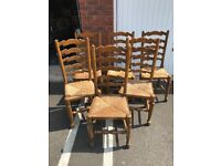 6 dining chairs and free dining table