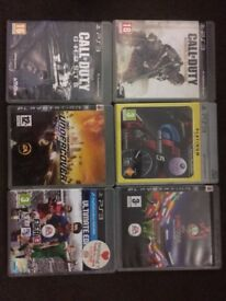 6 ps3 games £4 each