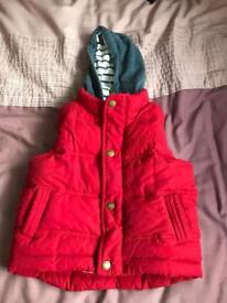 Boys red gillet 2-3 years old