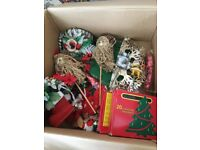Free Christmas decorations and lights - some new some used