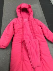 Rain all in one (4-5yrs) and snowsuit (5-6yrs)