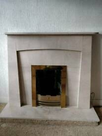 Marble Surround & Fire Place for Sale