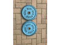 2x10kg metal weight plates
