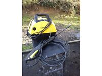 Karcher Pressure Washer with hose and gun.