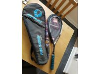 Hammer pro squash racket with cover and bag