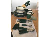 Plates, spoons and etc