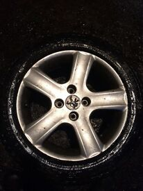 "Peugeot 307 16""alloy wheels in great condition with good 16""tires"