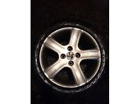 """Peugeot 307 16""""alloy wheels in great condition with good 16""""tires"""