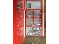 Six drawer Teng tool kit and a load of additional tools and garage stuff
