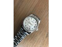 Men's silver designer watch