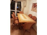Beautiful Marble Dining Room Table & Chairs