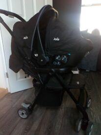Pram with car seat