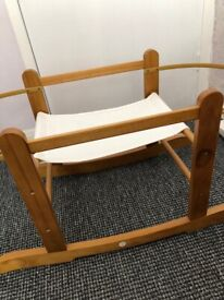 Moses basket rocking stand for sale