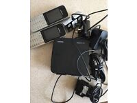 Siemens Gigaset SL785 Handset Cordless Phone Complete Charger & base SL785