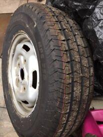 New car tyre