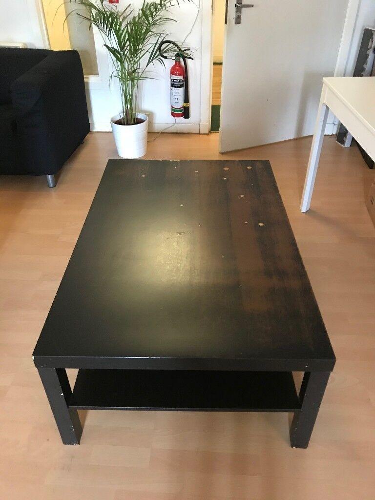Ikea Lack Coffee Table Brown Black