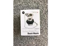 Brand New on box slotted brass plug basin waste chrome