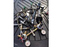 Home bar taps pumps pressure gauges
