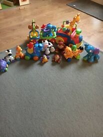 Fisher price animal train and extras