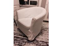 Ikea armchair with white cover