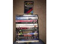 Spanish DVDs joblot and Spanish/ English dictionary