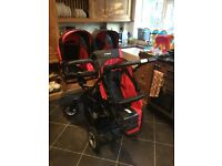 Baby active Trippy - 3 in 1 Triple/Twin Pram, Pushchair, Stroller with Isofix car seats