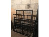 Double bed frame, metal, clean and tidy.