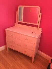 Vintage Style Dressing Table/ chest of drawers