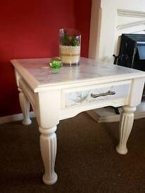 Hand painted coffee table/end table