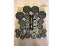 44KG metal weight plates with dumbells