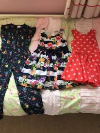 Gorgeous playsuit and 2 dresses, Debenhams and Marks & Spencer, aged 7, hardly worn.
