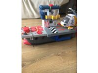 Fisher price Imaginext Carrier /Boat with helicopter!
