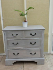 Vintage Painted Pine Chest of Drawers