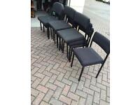 Reception chairs 10 stackable in black