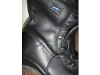 About blu safety steel toe cap work boots zip & laces size 9 NEW £45