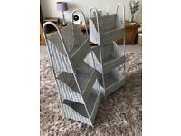 Pair of Grey Rattan Bathroom storage Units